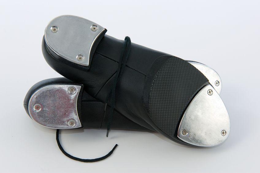 tap shoes under shoe view